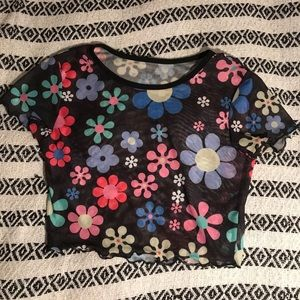 Cute Flower Crop Top 🌸